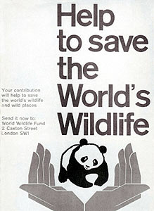 Poster of the first WWF campaign