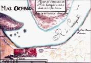 Antiguo mapa de localización del Embarcadero de La Plancha