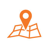 pointer on a map icon